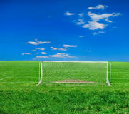 Soccer or football theme. Football grass background in light and shadow Stock Image