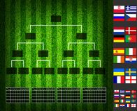 Soccer ( Football ) Tounament Map Royalty Free Stock Photography