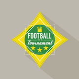 Soccer or Football Tournament Badge Royalty Free Stock Image