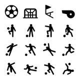 Soccer / Football training icon set Stock Photography