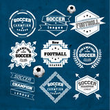 Soccer Football Typography Badge Design Element Stock Images