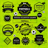 Soccer Football Typography Badge Design Element Stock Photo