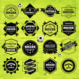 Soccer Football Typography Badge Design Element Royalty Free Stock Photo