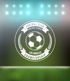 Soccer Football Typography Badge Design Element. Vector Royalty Free Stock Images