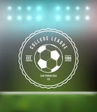 Soccer Football Typography Badge Design Element Stock Photography