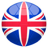 Soccer football with United Kingdom flag 3d rendering Stock Photos