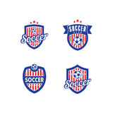Soccer and Football Vector Logo Template Royalty Free Stock Photos