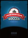 Soccer football vector vintage poster design templates Stock Photos