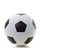 Soccer football on white with shadow Royalty Free Stock Images