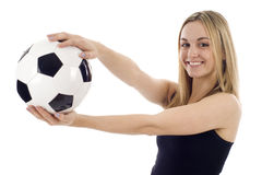 Soccer Football Woman Stock Photos