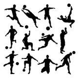 Soccer Footballer Silhouettes Stock Image