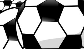 Soccer Footballs Background royalty free stock images