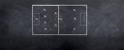 Soccer Formation Stock Photography
