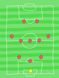 Soccer formation Royalty Free Stock Images