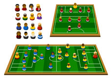 Soccer Formation Schema Royalty Free Stock Photography