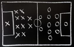 Soccer formation tactics royalty free stock images