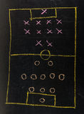 Soccer formation tactics Royalty Free Stock Image