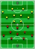 Soccer formations. An illustration of soccer formations Royalty Free Stock Photography