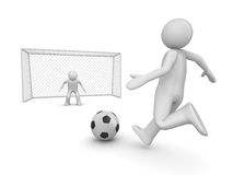 Soccer forward in penalty area Stock Photo