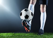 Soccer. Fotball match.Championship concept with soccer ball. Stock Image