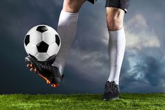 Soccer. Fotball match.Championship concept with soccer ball. royalty free stock images