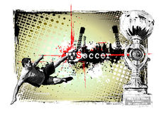 Soccer frame royalty free illustration
