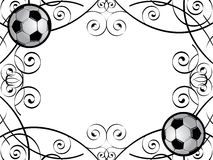 Soccer Frame. Vector frame with soccer balls Royalty Free Stock Photos