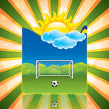 Soccer frame Royalty Free Stock Images