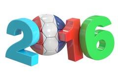 Soccer France 2016 concept. 3D rendering Stock Photos