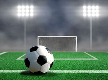 Soccer Free Kick with Spotlights Royalty Free Stock Image