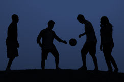 Soccer Friends Team Active Sport Concept Royalty Free Stock Photos
