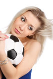 Soccer funs Stock Photography