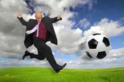 Soccer is the game Stock Photo