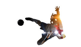 Soccer game background. Mixed media . Mixed media Stock Photography