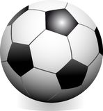Soccer game ball. Vector soccer game ball isolated on white background Royalty Free Stock Photos