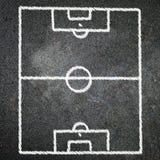 Soccer game on blackboard Stock Photo