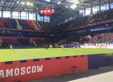 Soccer game CSKA-Rostov in CSKA stadium, Moscow Stock Images