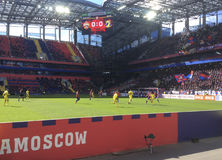 Soccer game CSKA-Rostov in CSKA stadium, Moscow Stock Image