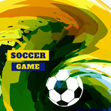 Soccer game design Stock Photo