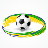 Soccer game design Royalty Free Stock Images