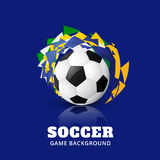 Soccer game design Royalty Free Stock Photography