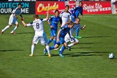 Soccer game Earthquakes vs LA Galaxy Royalty Free Stock Photos