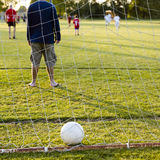 Soccer game with family Royalty Free Stock Photography