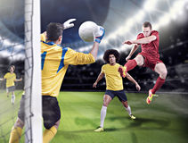 Soccer game royalty free stock photos