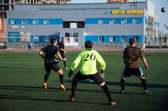 Soccer game The goalkeeper number 20 Stock Photography