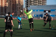 Soccer game The goalkeeper number 20 Stock Photos