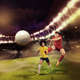 Soccer game Stock Image