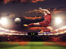 Soccer game Royalty Free Stock Images
