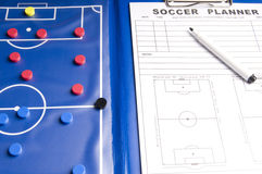 Soccer game planner Stock Images