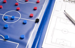 Soccer game planner Royalty Free Stock Photo